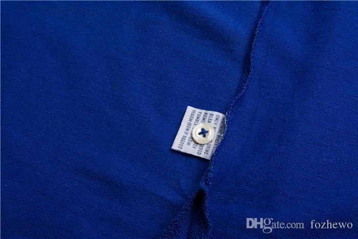 Bandiere Ricamo Polo All'ingrosso Nuovo marchio di moda Colletto rovesciato Estate Casual da uomo Polo manica corta Polo 100% cotone Plus Size S-XXL