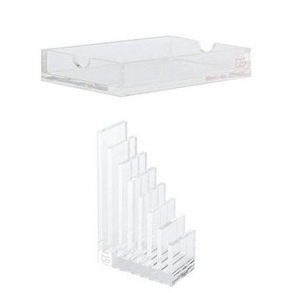 Draymond Story Acrylic Office Supplies Bundle 1 Desk File Holder Notepad Paper