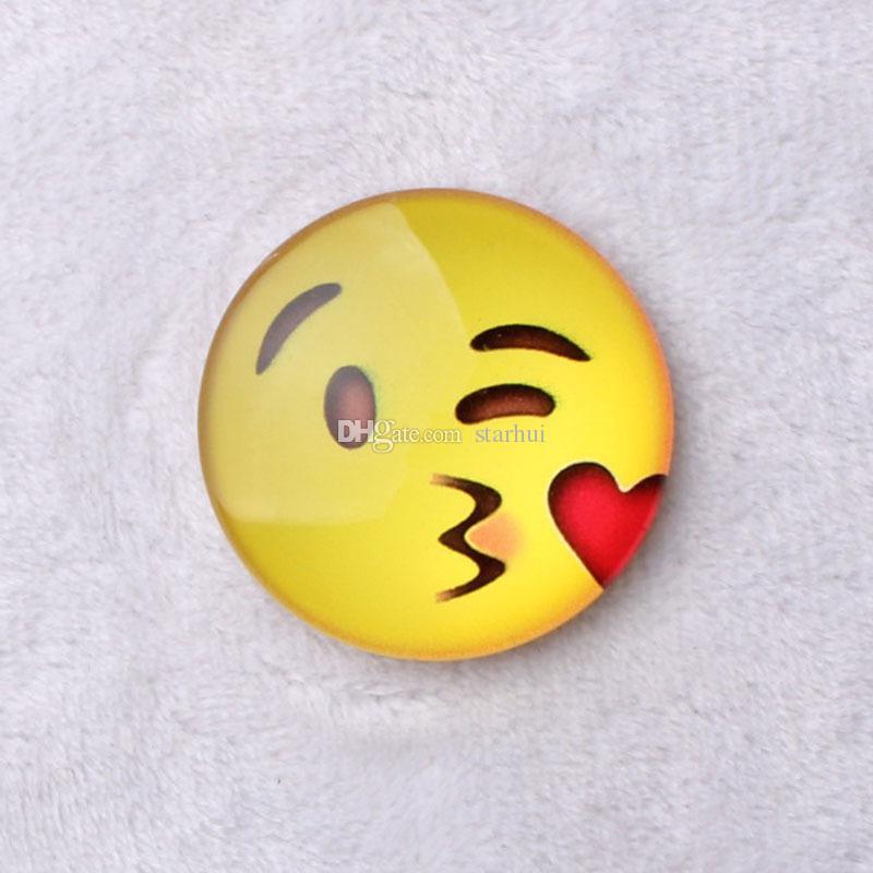 Novo Ímã Emoji Cúpula De Vidro Rodada Sorriso Rosto Expressões Imã de Geladeira Titular Mensagem Frigorífico Adesivo Livre DHL WX-C37