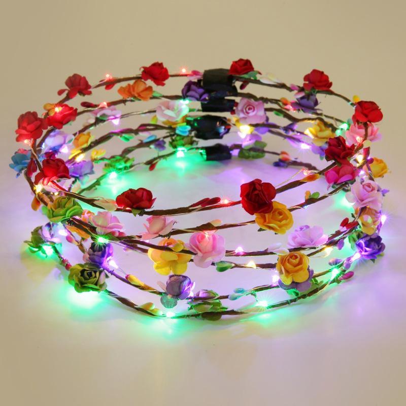 Les Tourisme Lumière Coiffe De Lampe Guirlande Led Fleur Colorées Accessoires Lumières Flash 10 Été Hawaii Fabricants Cheer FK1Jlc