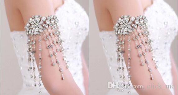 Körper Jewerly Perlen Hochzeit Zubehör Halskette Schmuck Band Kette Schulter Hochzeit Braut Prinzessin Kristall Strass Körper Jewerly Perlen