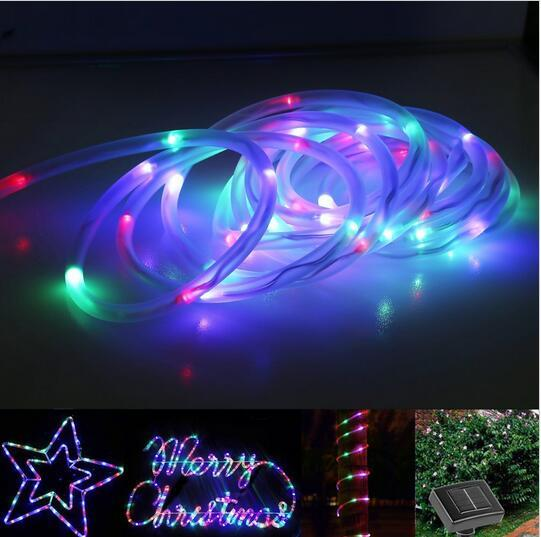 Led solar rope lights waterproof 7m 50 leds portable with light led solar rope lights waterproof 7m 50 leds portable with light sensor outdoor rope lights ideal for christmas wedding party led string light xmas aloadofball Image collections