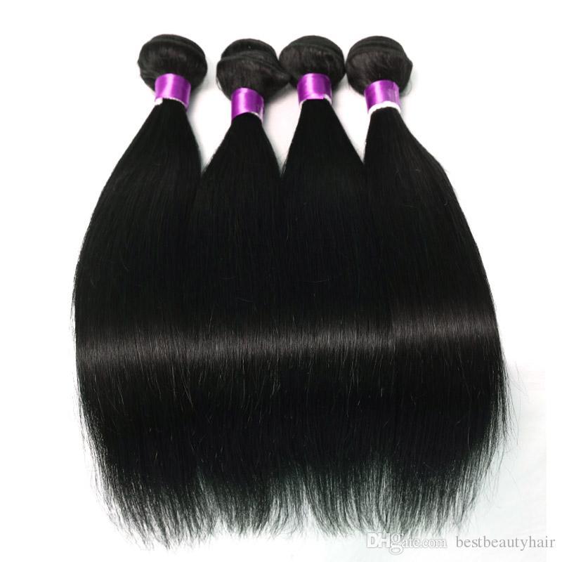 브라질 인간의 머리 직선 Virigin 머리는 인간의 머리카락 확장 페루 말레이시아 브라질 스트레이트 인간 스트레이트 위사을 엮어 냈다 번들