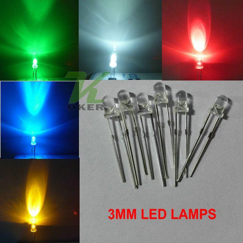3mm 자주색 둥근 물 명확한 LED 빛 램프는지도 된 다이오드 3MM UV지도 된 램프를지도했다