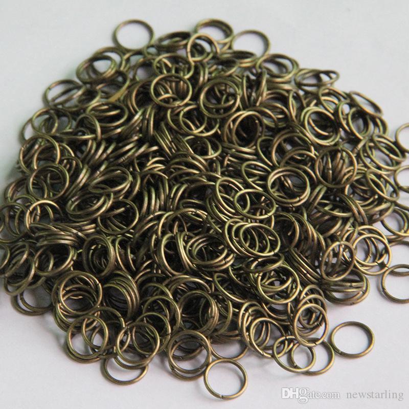 Diamètre 4 mm Argent / Or / Gun noir / Bronze / or rose / blanc K Ouvrir Jumprings bague Jump - split anneaux fournitures de bricolage accessoires bijoux