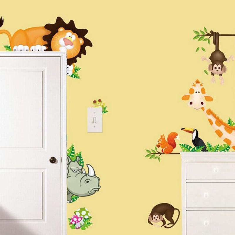 قرد الحيوانات القابلة للإزالة ملصقات الحائط صائق للطفل الحضانة غرفة ديكور للأطفال