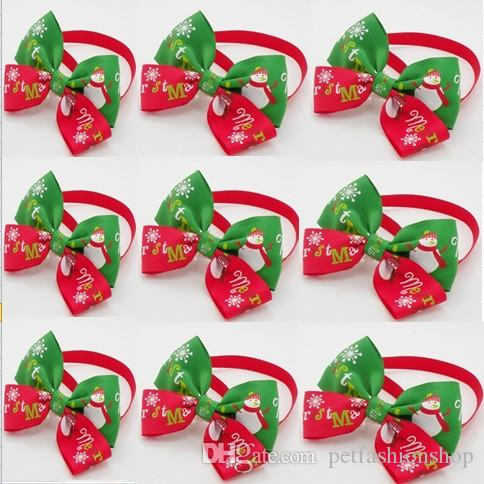 Christmas Holiday Pet Puppy Dog Cat Bow Ties Cute Neckties Collar Accessories Grooming Supplies P88