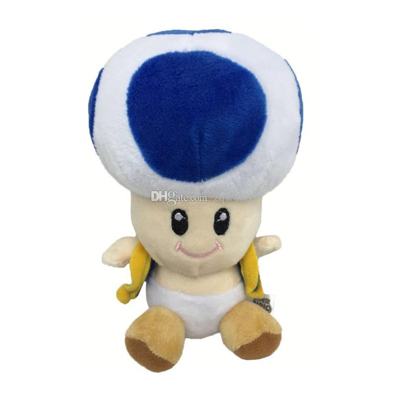 """NEW 6.5"""" 17cm Super Mario Bros Toad Plush Dolls Stuffed Toy Animals For Baby Gifts"""
