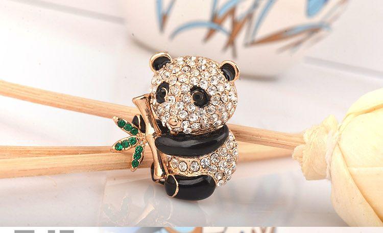 2016 Corée Nouvelle Annonce Mode Délicat strass panda Broche Pour Bijoux En Gros Broches broche