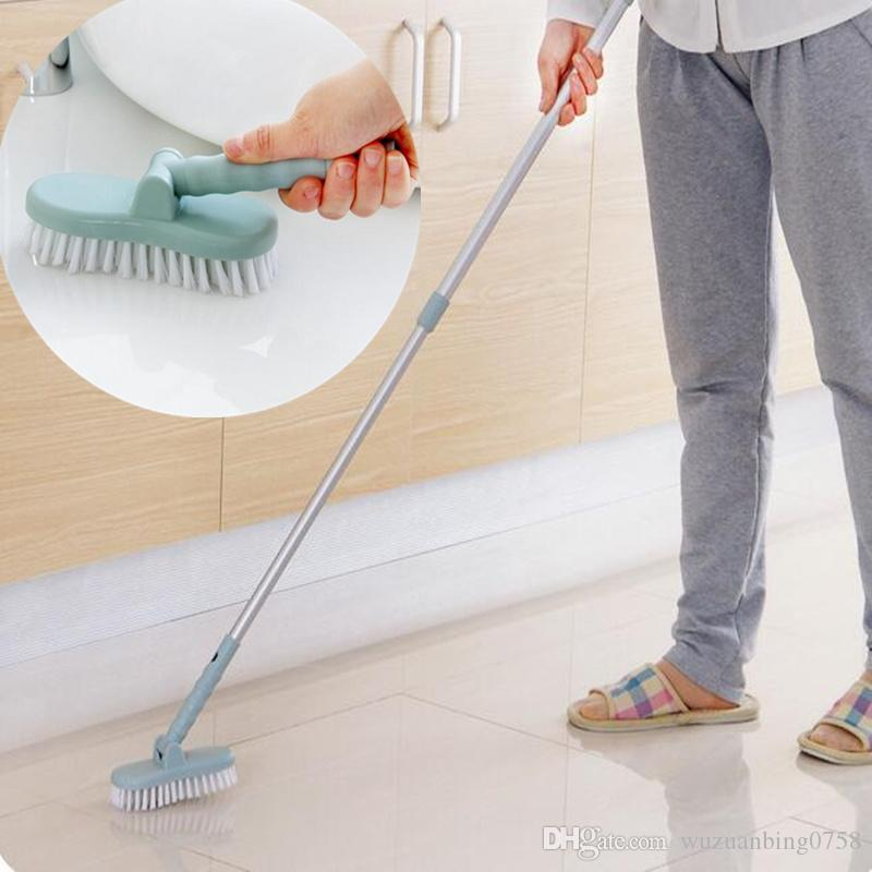 2018 2 In 1 Long Handled Retractable Bristle Floor Cleaning Brush Toilet  Bath Bathtub Ceramic Tile Glass Wc Brushes Home Cleaner From  Wuzuanbing0758, ...