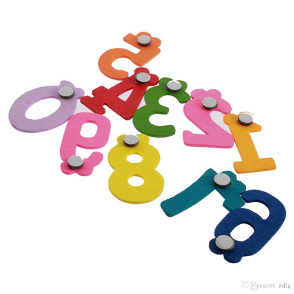 10 adet / takım Mıknatıs Eğitim X mas Hediye Seti 10 Numarası Ahşap Dolabı Magnet Eğitim Öğrenmek Sevimli Çocuk Bebek Oyuncak DIY