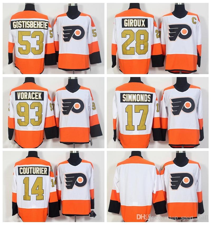 338ba0cc9 2019 Philadelphia Flyers 50th Anniversary Jerseys Ice Hockey 53 Shayne  Gostisbehere Jersey 93 Jakub Voracek 17 Wayne Simmonds 28 Claude Giroux  From ...