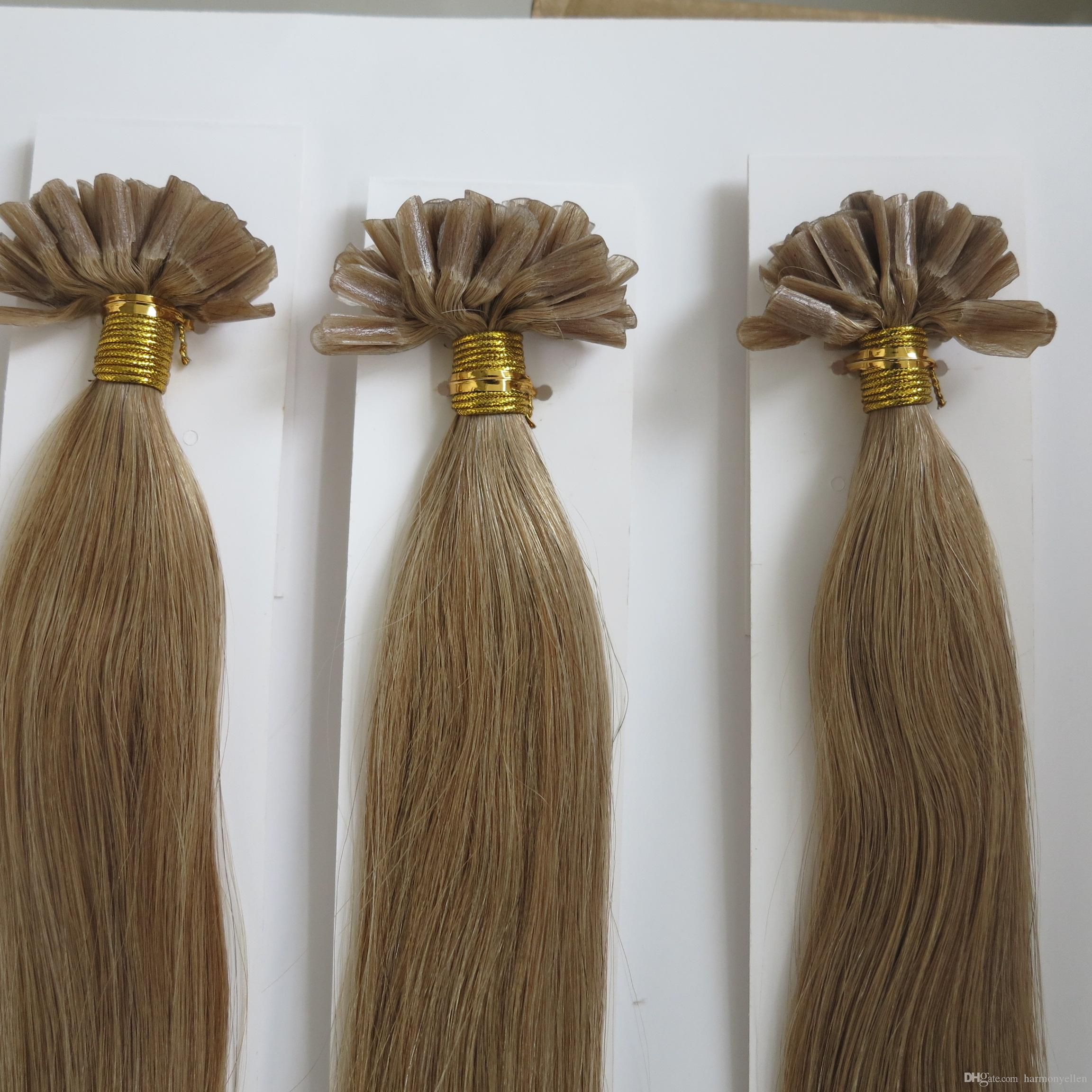 Pre Bonded Human Hair Extensions 1gstrand 16inch 26inch Nail U Tip