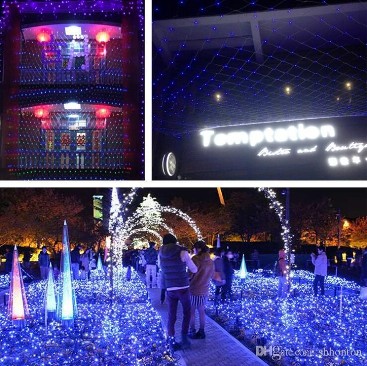 Wedding curtain 1.5m*1.5m 96 led Lamps net Fairy Christmas Home Garden decoraitons 110V 220V Super Bright Net WQ23