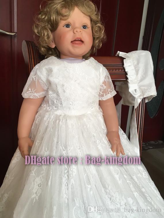 7f0ef23eb058 2017 Highly Soft Ivory White France Eyelash Lace Christening Gowns ...