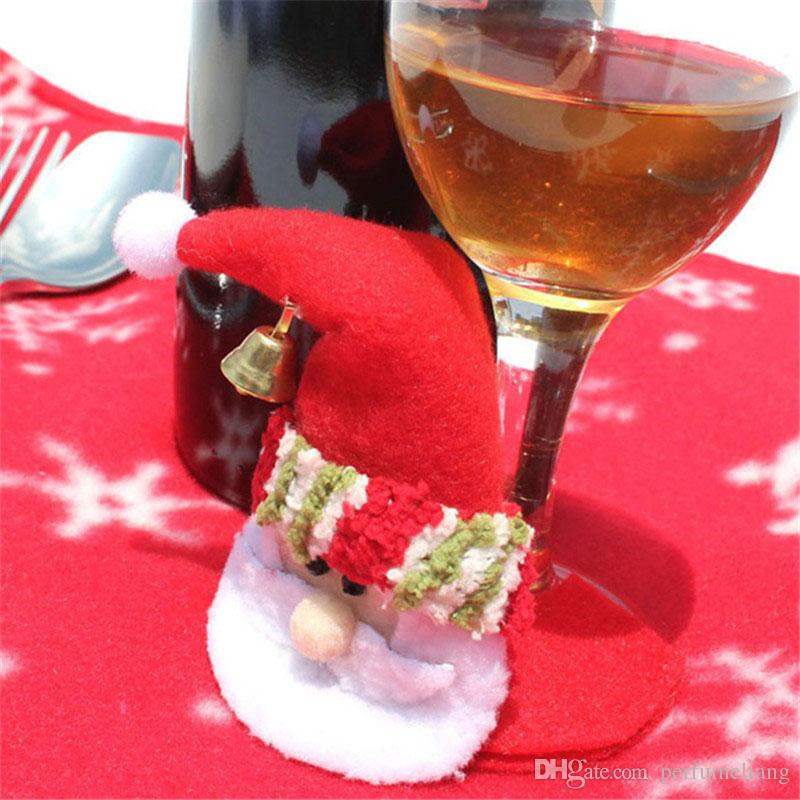 santa claus red wine glass coaster goblet pad party home table christmas decoration snowman cup mat navidad za5117 xmas decorating xmas decoration from