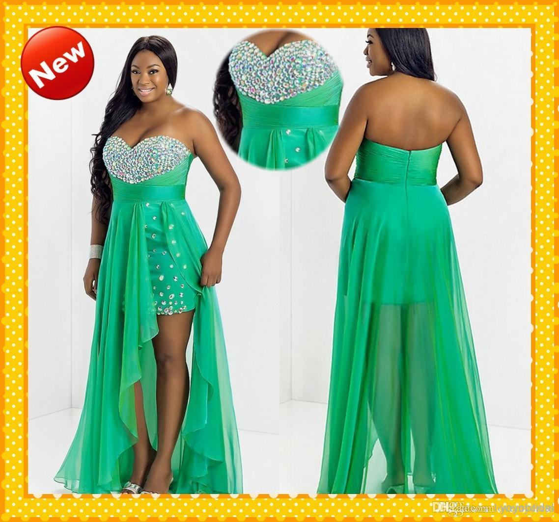 Unusual Plus Size High Low Prom Dress Contemporary Wedding Ideas