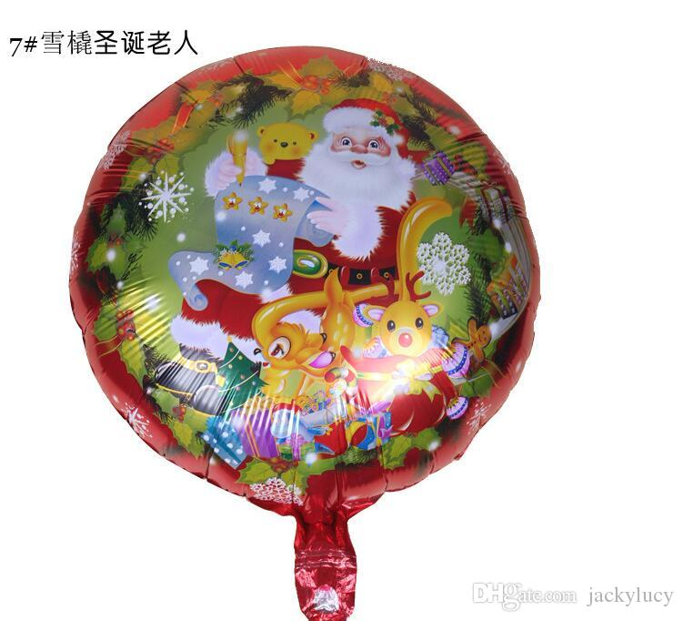 New Arrival 18 Inch Santa Claus Christmas Tree Helium Aluminum Foil Balloons 9 Styles For Kids Toys Christmas Party Decorations