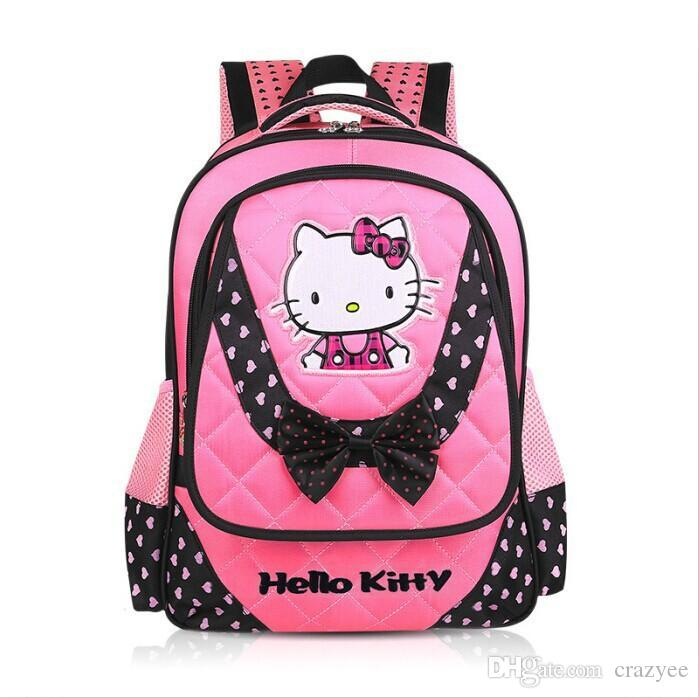 Girls Book Bag Hello Kitty School Bags 2016 High Quality ...