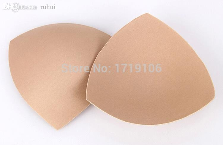 Wholesale-e Cups Bikini Bra Pad Chest Push Up Insert 50pair=100pcs Foam Pads For Swimsuit Padding Accessories Beige White d96