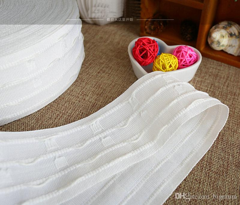 Accessoires de rideau en crochet pour rideaux ruban de ruban blanc ruban de cryptage épaississant ruban de rideau de cryptage 10 mètres