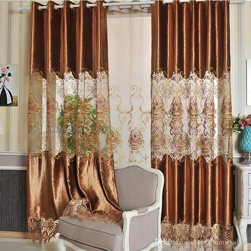 2018 2.8m Width Velvet Curtains Water Dissolving Lace Curtains Hollow  Fashion Design Drapes Modern Curtain Room Decoration Whole #cloth From ...