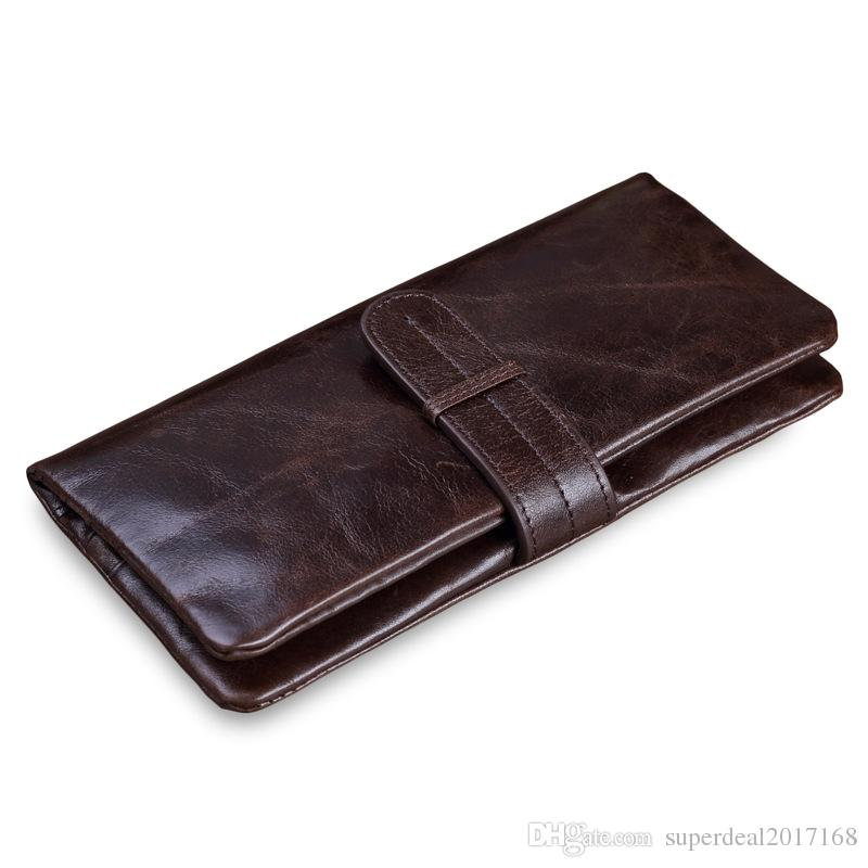 885cc5b6899 New Classic Luxury Men  S Casual Wallet Man Purse Clutch Bag Brand Genuine Leather  Wallet Long Design Men Bag Gift For Men Nice Wallets Custom Leather ...