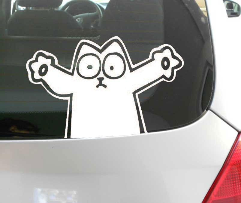 Fun decal simons cat funny car window sticker aufkleber decal vinyl funny car decal window sticker car decal sticker car sticker online with