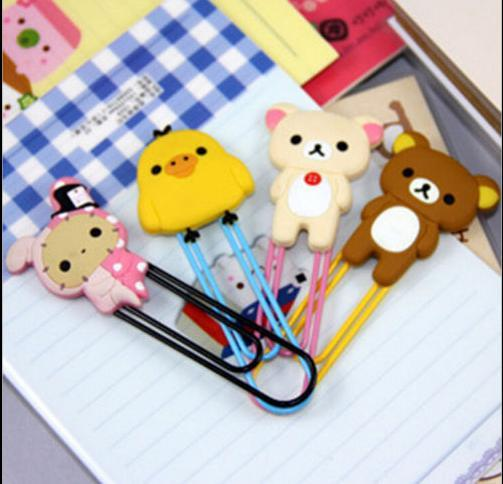 Cute Cartoon Animal Paper Note Pin Clip Bookmark Paperclip Office School Supply Brown bear white bear Chicken Youyou