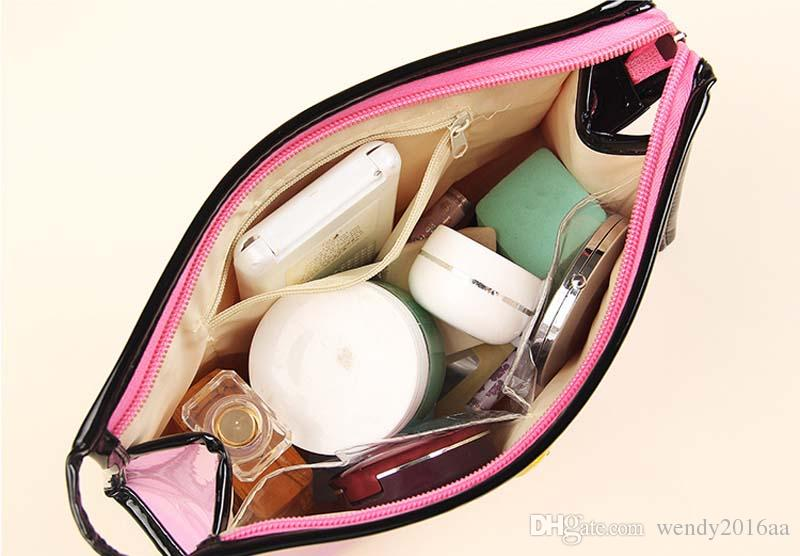 23.5*8*15.5cm Lip Waterproof Cosmetic Bags Womens Daily Transparent Travel Makeup Case Toiletry Wash Pouch