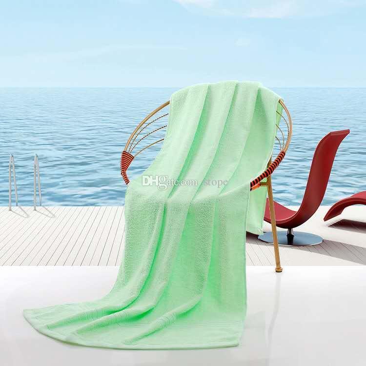 Serviette de douche Serviettes de bain Séchage de plage Gant de toilette Maillots de bain Voyage Camping serviettes de bain Douche Nettoyage serviettes 70x140cm gratuit