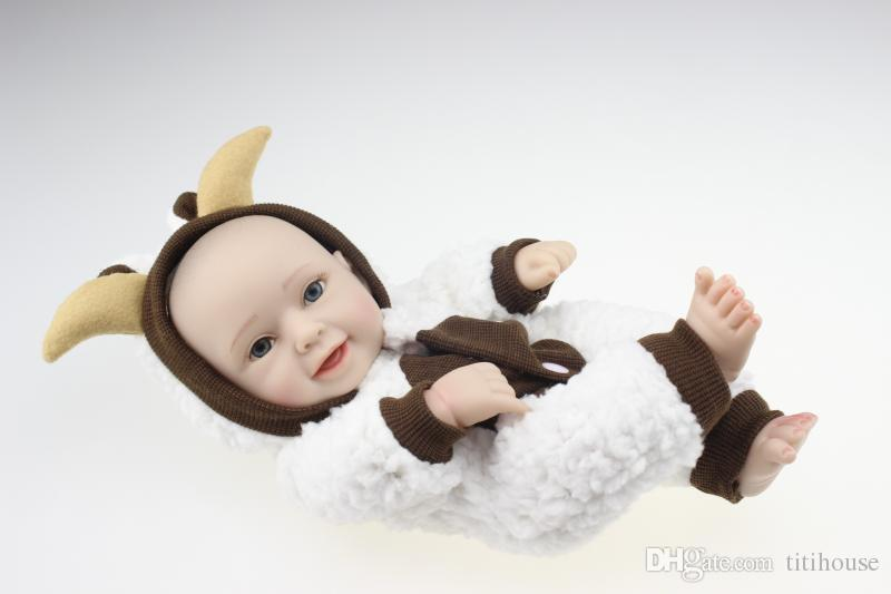 Handmade 10 Inch Mini Reborn Baby Doll Full Silicone Baby Toy Collection Doll Reborn Popular Princess Girl So Clever