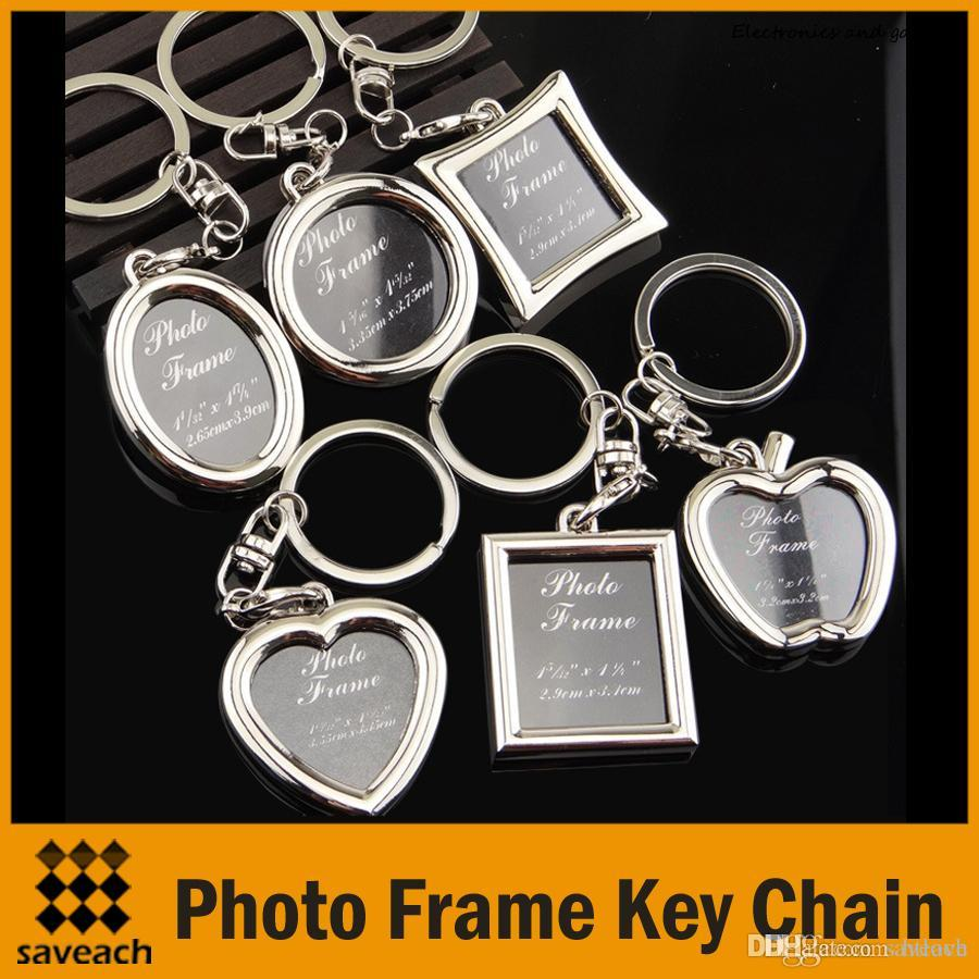 Hot Photo Frame Lovers Creative Personalized Keychain Alloy Key Ring