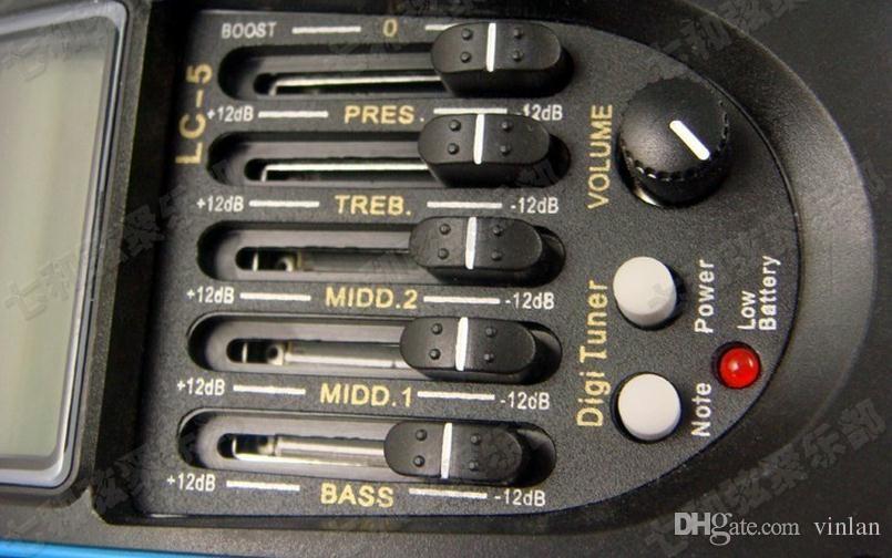 어쿠스틱 기타 프리 앰프 앰프 5 밴드 EQ 기타 픽업 프리 앰프 튜너 전문 기타 액세서리