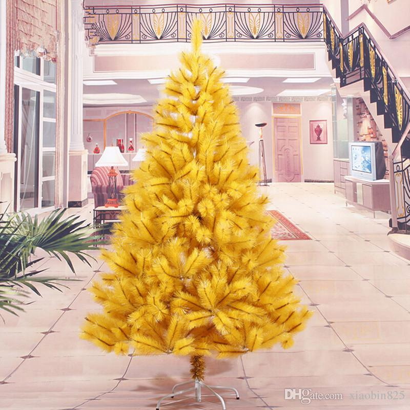 18 m 180cm yellow pine needle christmas tree factory direct high grade encryption christmas tree pine needles find christmas decorations german christmas - Yellow Christmas Decorations