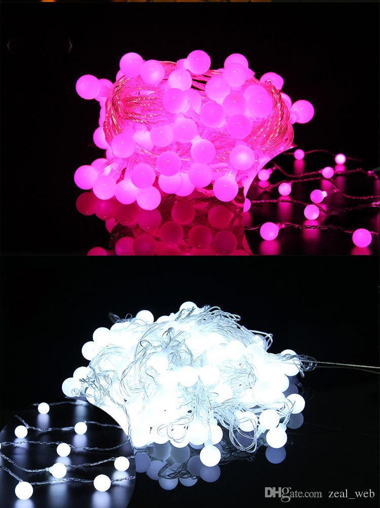 دي إتش إل الساخن عيد الميلاد الملونة سلاسل الصمام 100 أضواء الصمام 10 متر ضوء الكرة عيد الميلاد حفل زفاف الديكور سلاسل الصمام