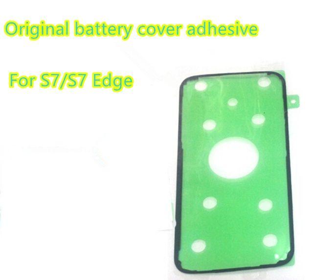 Samsung Galaxy S7 G930 s7 kenar S6 S6 Kenar Not 5 N920 Yeni Orijinal Pil Konut Arka Kapak Yapışkan Bant