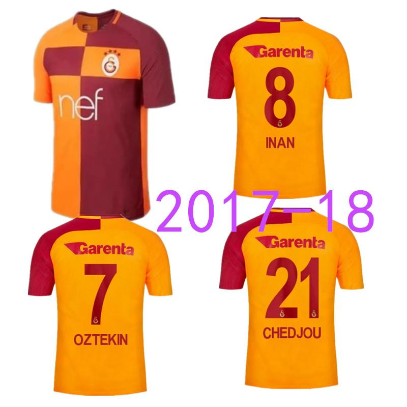 online cheap 2017 2018 turkey galatasaray spor kulubu sk turchia club galatasaray soccer jerseys home away 17 18 selcuk inan yasin oztekin football shirt by