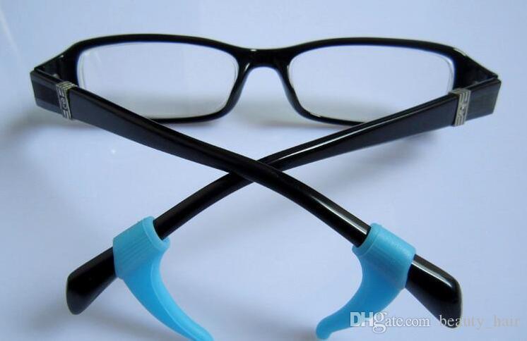 10 cores de Qualidade Gancho Da Orelha de Óculos Eyewear Óculos Titular da Ponta Do Templo de Silicone Óculos de alta qualidade óculos eyewear Anti Slip orelha de silicone