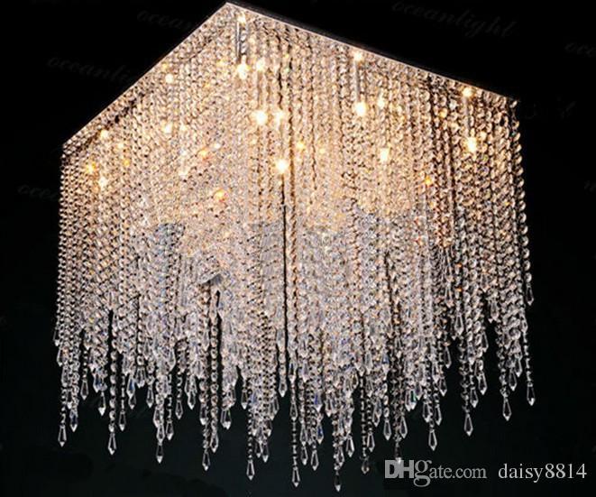 new modern square crystal chandelier light 10 Merveilleux Lustre Cristal Kgit4