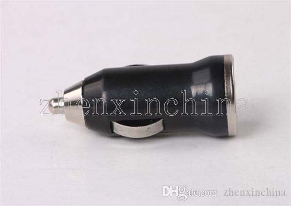 2016 bala de alta calidad solo adaptador de cargador de coche USB adaptador de encendedor de cigarrillos adecuado para iphone samsung xiaomi lenovo HTC iPod iPad