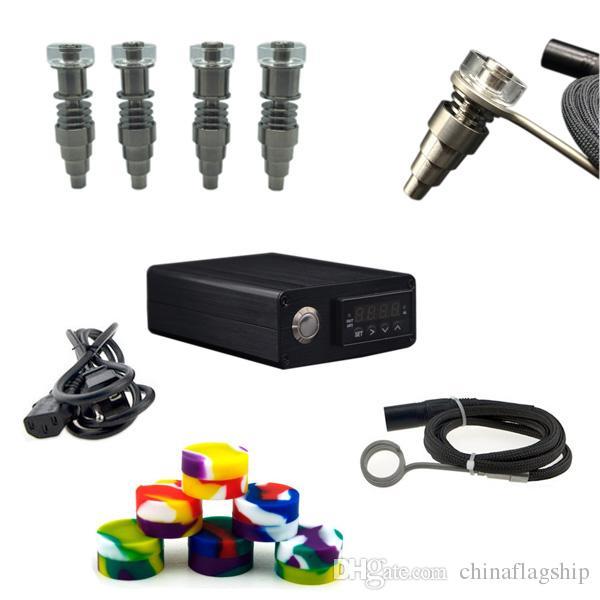 2016 Hot vente E numérique Nail kit avec Fit plat 10mm 16mm20mm bobine de chauffage Ti / Qtz hybride Nail pour tous les bongs d'eau de verre