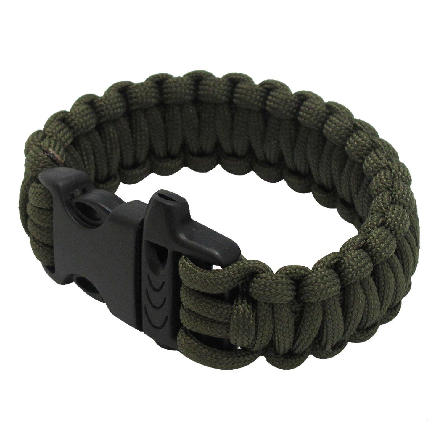 multifunctional military paracord bracelet outdoor survival kit