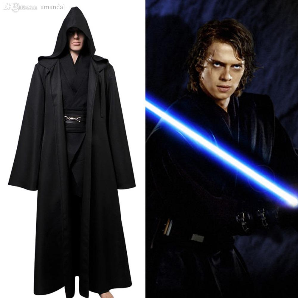 wholesale star wars anakin skywalker cosplay costume black version movie halloween costume outfit black cloak full set costumers guide costume puppy cosplay