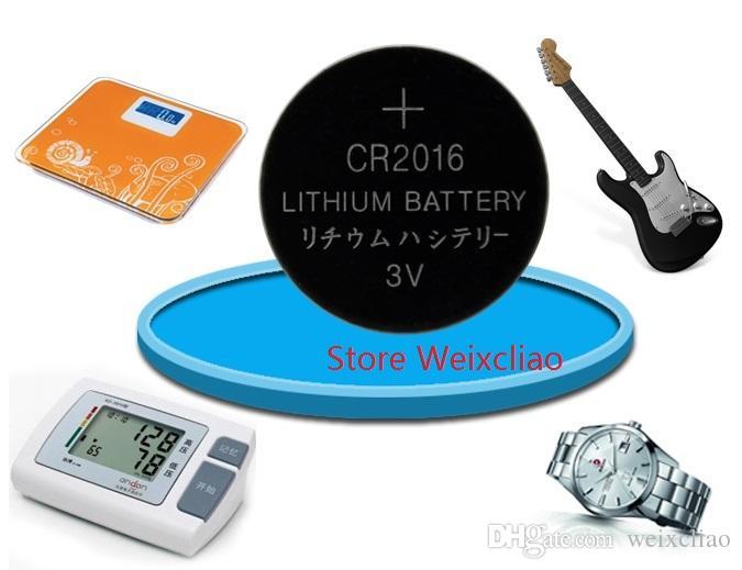 1 개의 많은 CR2016 3V 리튬 이온 버튼 셀 배터리 CR 2016 3 볼트 리튬 이온 배터리 트레이 패키지 무료 배송