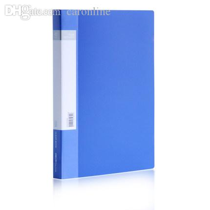 2019 Wholesale A4 Plastic File Folder 40 Page Clear Book