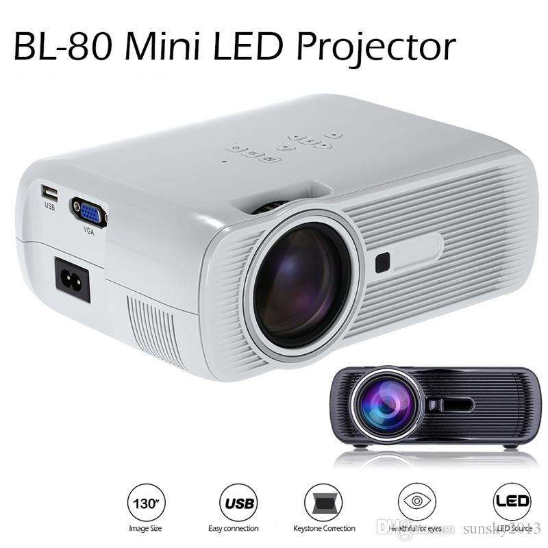 H60 Portable 3d Led Projector Lcd Multimedia Home Cinema: 2019 Mini Portable Projector LCD LED Projectors BL 80