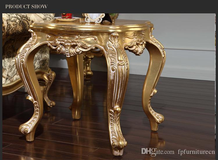 Antique reproduction living room furniture -Frenchclassic coffee table with hand painting -Italian square table