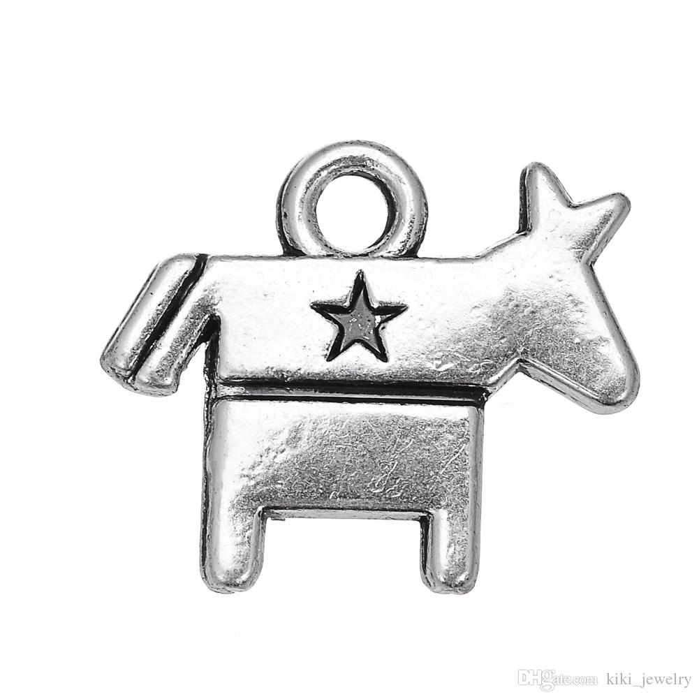 2018 My Shape Antique Silver Plated Democrat Symbol Donkey Hot Sale