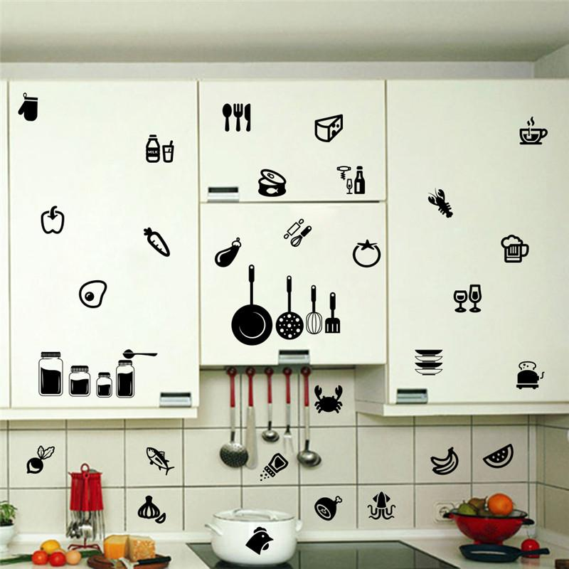 Kitchen Wall Sticker Tools Room Removable Decal Wall ...